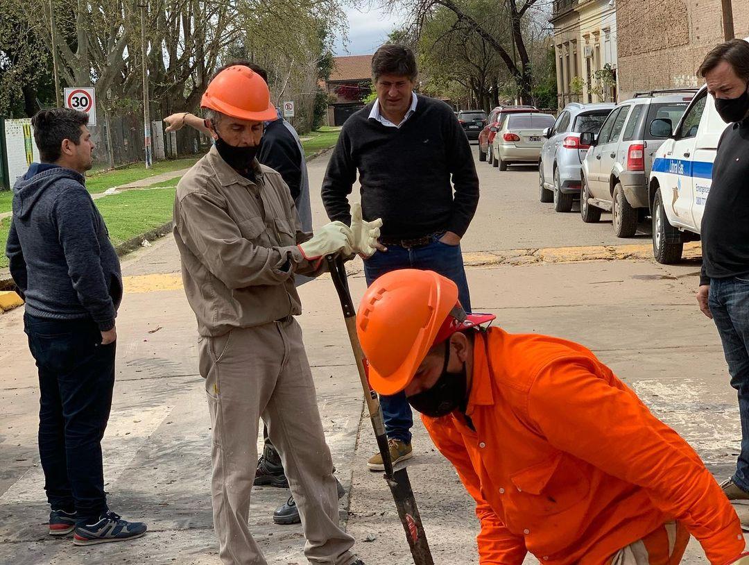 Avanza la obra de saneamiento hídrico del centro de Funes