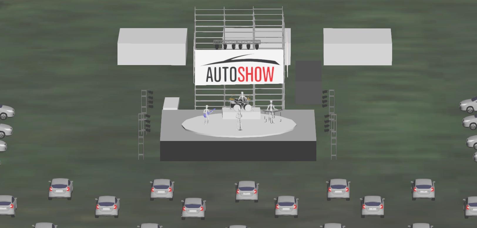 Cómo será el imponente predio para ver recitales desde el auto en Funes