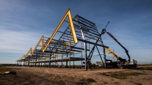 Ciudad Industria: el mega parque industrial de Funes ya construye su edificio de ingreso